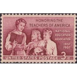 1 عدد تمبر صدمین سال نجمن ملی آموزش و پرورش - آمریکا 1957