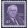 1 عدد تمبر یادبود سناتور والتر اف جورج - آمریکا 1960