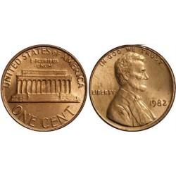 سکه 1 سنت - برنجی - آمریکا 1982غیر بانکی