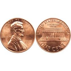 سکه 1 سنت - برنجی - آمریکا 1990غیر بانکی