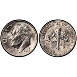سکه 10 سنت - نیکل مس - آمریکا 2005 غیر بانکی