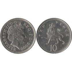 سکه 10 پنس - نیکل مس - انگلیس 2000 غیر بانکی