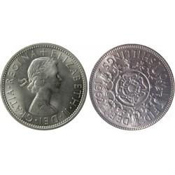 سکه 2 شیلینگ - نیکل مس - انگلیس 1962 غیر بانکی