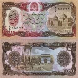 اسکناس 1000 افغانی 1991 تک