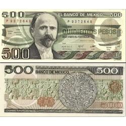 اسکناس 500 پزو - مکزیک 1984 سری DV