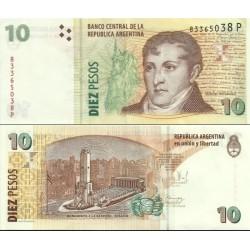 اسکناس 10 پزو - آرژانتین 2003