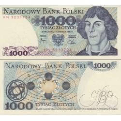 اسکناس 1000 زلوتیچ - لهستاaن 1982