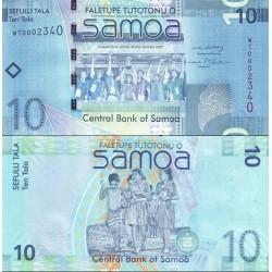اسکناس 10 تالا - ساموا 2008