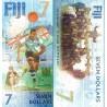 اسکناس 7 دلار -یادبود هفتمین مدال طلای راگبی در المپیک 2016 ریودژانیرو - فیجی 2016