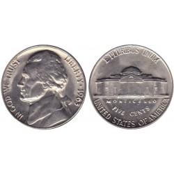 سکه 5 سنت - نیکل مس - آمریکا 1963غیر بانکی