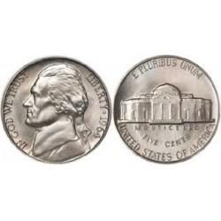 سکه 5 سنت - نیکل مس - آمریکا 1964غیر بانکی