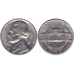 سکه 5 سنت - نیکل مس - آمریکا 1973غیر بانکی