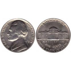 سکه 5 سنت - نیکل مس - آمریکا 1974غیر بانکی