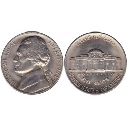 سکه 5 سنت - نیکل مس - آمریکا 1984غیر بانکی