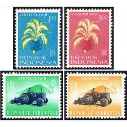 4 عدد تمبر نجات از گرسنگی - اندونزی 1963