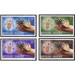 4 عدد تمبر نجات از گرسنگی - توگو 1963