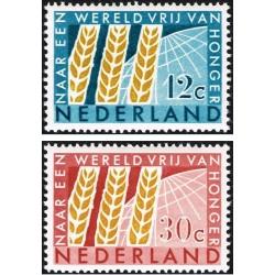2 عدد تمبر نجات از گرسنگی  - هلند 1963