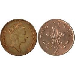 سکه 2 پنس - برنز - انگلیس 1987 غیر بانکی