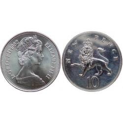 سکه 10 پنس نیکل مس - انگلیس 1988 غیر بانکی