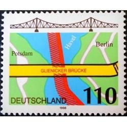 1 عدد تمبر پل گرینکر - جمهوری فدرال آلمان 1998