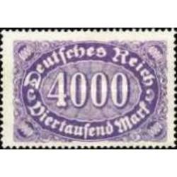 1 عدد تمبر سری پستی - 4000 مارک - رایش آلمان 1922 با شارنیه