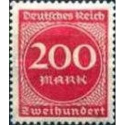 1 عدد تمبر سری پستی - 200 مارک - رایش آلمان 1923 با شارنیه