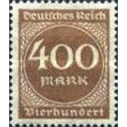 1 عدد تمبر سری پستی - 400 مارک - رایش آلمان 1923 با شارنیه