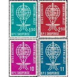 4 عدد تمبر ریشه کنی مالاریا - آلبانی 1962