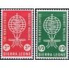 2 عدد تمبر ریشه کنی مالاریا  - سیرالئون 1962