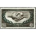 1 عدد تمبر سال همکاری بین المللی - مکزیک 1965