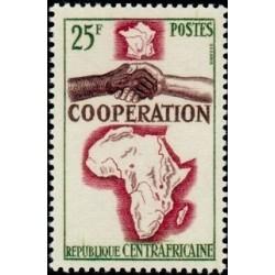 1 عدد تمبر سال همکاری بین المللی - آفریقای مرکزی 1964