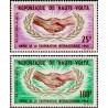 2 عدد تمبر سال همکاری بین المللی - ولتای علیا 1965