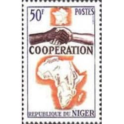 1 عدد تمبر سال همکاری بین المللی - نیجر 1964