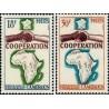 2 عدد تمبر سال همکاری بین المللی - کامرون 1964