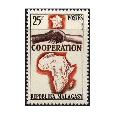 1 عدد تمبر سال همکاری بین المللی - ماداگاسکار 1964