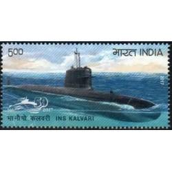 1 عدد تمبر  زیردریائی -  هندوستان 2017