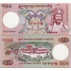اسکناس 500 نگولتروم - بوتان 2011