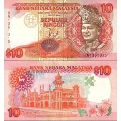 اسکناس 10 رینگیت - مالزی 1989 چاپ توماس دلا رو لندن