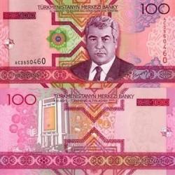 اسکناس 100  منات ترکمنستان 2005 تک