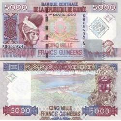 اسکناس 5000 فرانک - گینه 2010 پرفیکس سریال بلندتر از ارقام