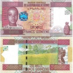 اسکناس 10000 فرانک - گینه 2012