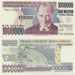 اسکناس 1000000 لیر ترکیه 1970 تک