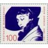 1 عدد تمبر صدمین سال تولد کتی دورش - هنرپیشه - جمهوری فدرال آلمان 1990