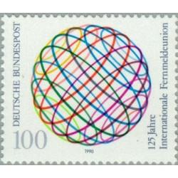 1 عدد تمبر 125مین سالگرد اتحادیه بین المللی مخابرات UIT - جمهوری فدرال آلمان 1990