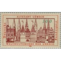 1 عدد تمبر بخش قدیمی شهر لوبک - جمهوری فدرال آلمان 1990