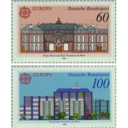 2 عدد تمبر مشترک اروپا - Europa Cept- ادارات پست - جمهوری فدرال آلمان 1990 قیمت 3.5 دلار