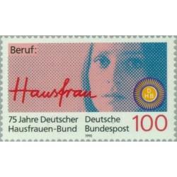 1 عدد تمبر 75مین سالگرد انجمن زنان آلمان - جمهوری فدرال آلمان 1990