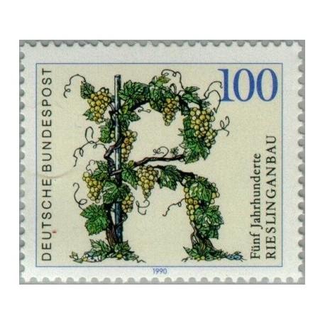 1 عدد تمبر 500مین سال کشت انگور در رایزلینگ - جمهوری فدرال آلمان 1990