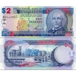 اسکناس 2 دلار - باربادوس 2007