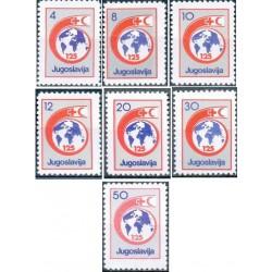 7 عدد تمبر خیریه - هفته صلیب سرخ  - یوگوسلاوی 1988